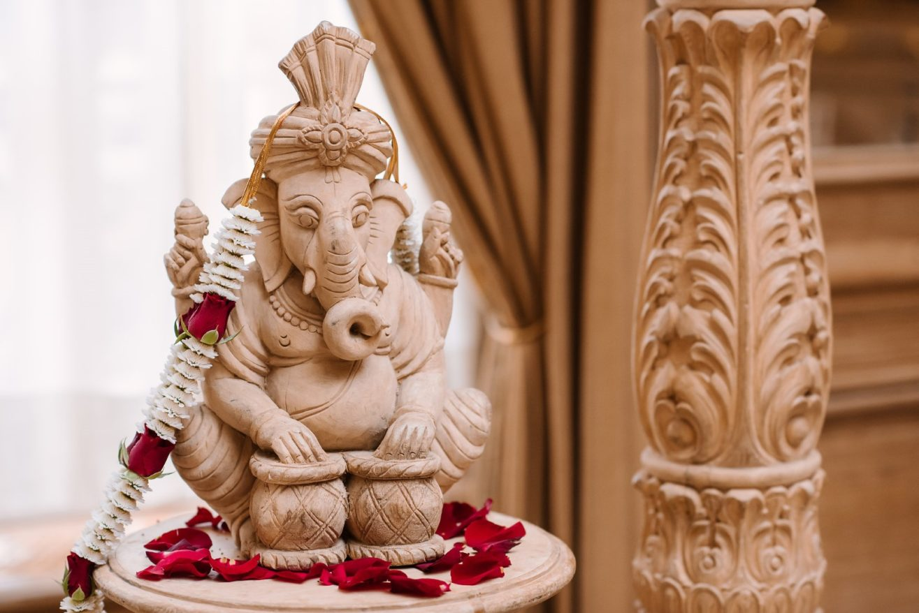 Picture of Ganesh: Rig Veda 10.85.36, Atharva Veda 14.1.50