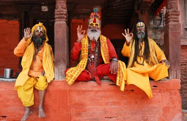 Pind daan or shradh: Three saddhus at Ktm Durbar Square